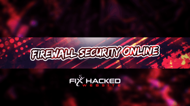 Firewall Security Online