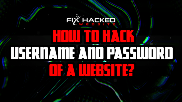 How to Hack Username and Password of a Website