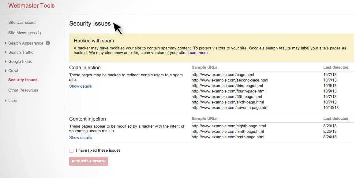 webmaster-tools-security-issue-for-the-google-message-this-site-may-be-hacked