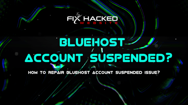 How to Repair Bluehost Account Suspended issue