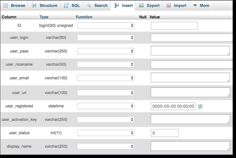 insert-elements-phpmyadmin-database
