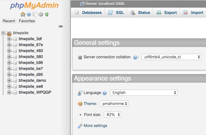 Appearance-of-Wordpress-database