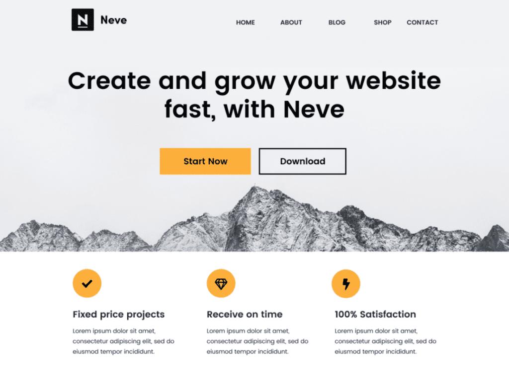 Best Free WordPress Blog Themes - Neve