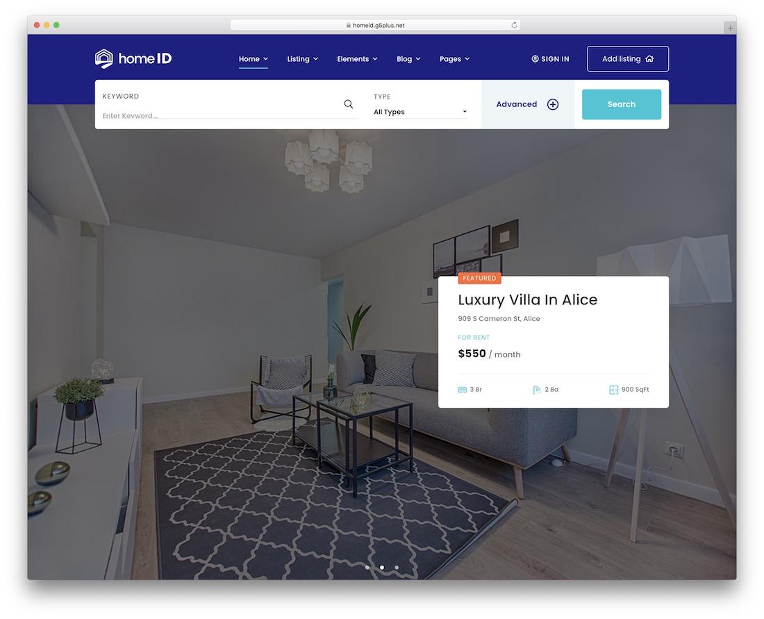 Best Real Estate WordPress Themes - HomeID