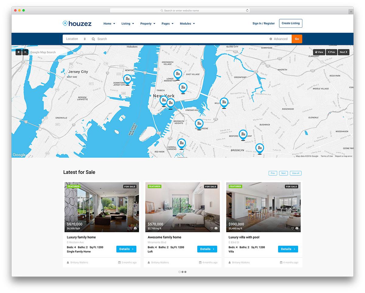 Best Real Estate WordPress Themes - Houzez