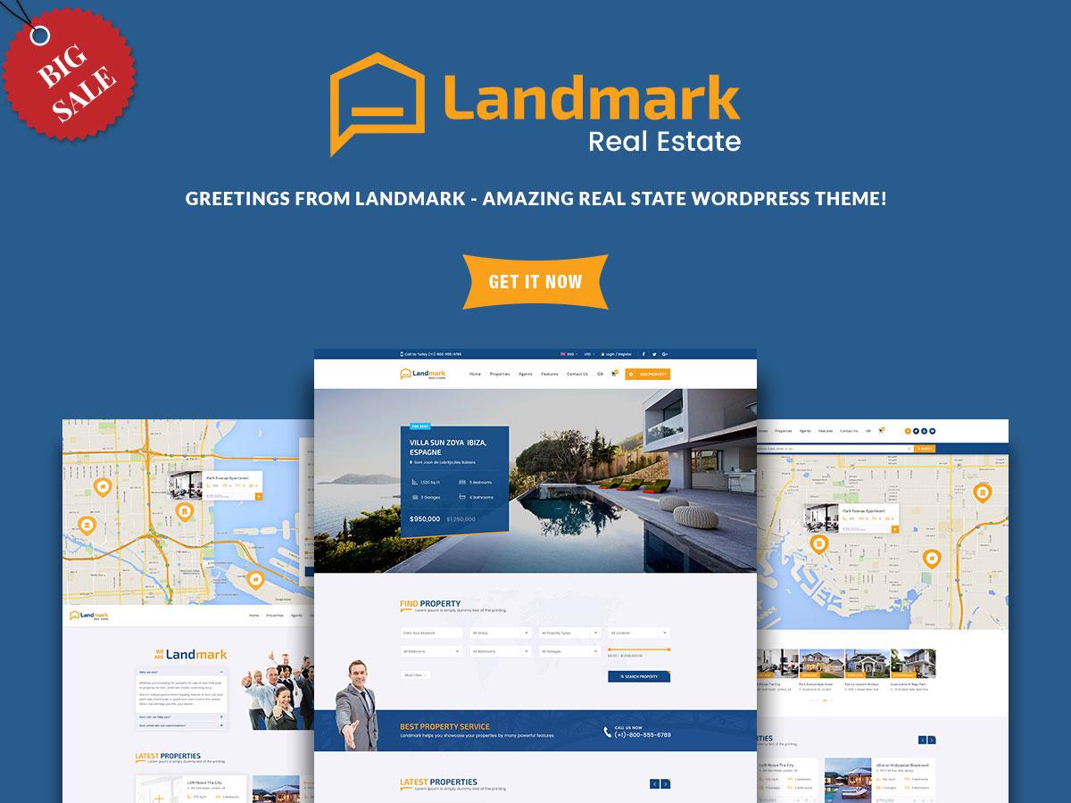 Best Real Estate WordPress Themes - Landmark