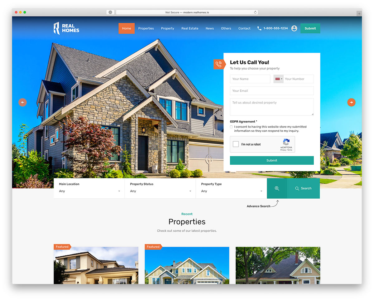 Best Real Estate WordPress Themes - Real Homes