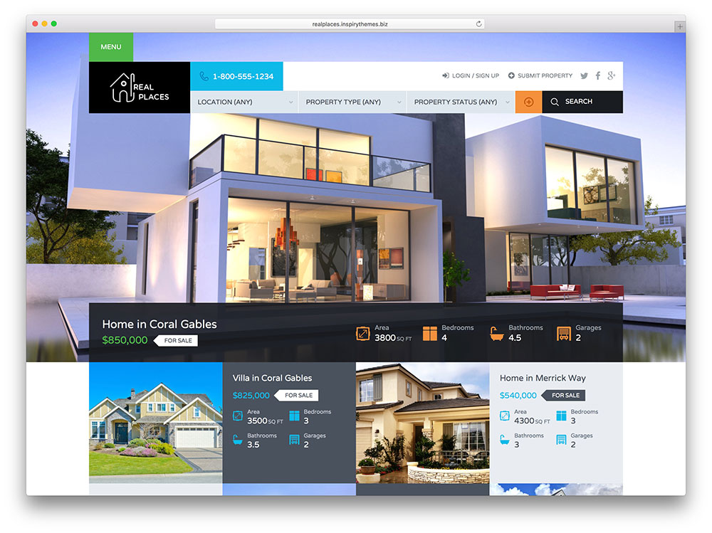 Best Real Estate WordPress Themes - Real Places