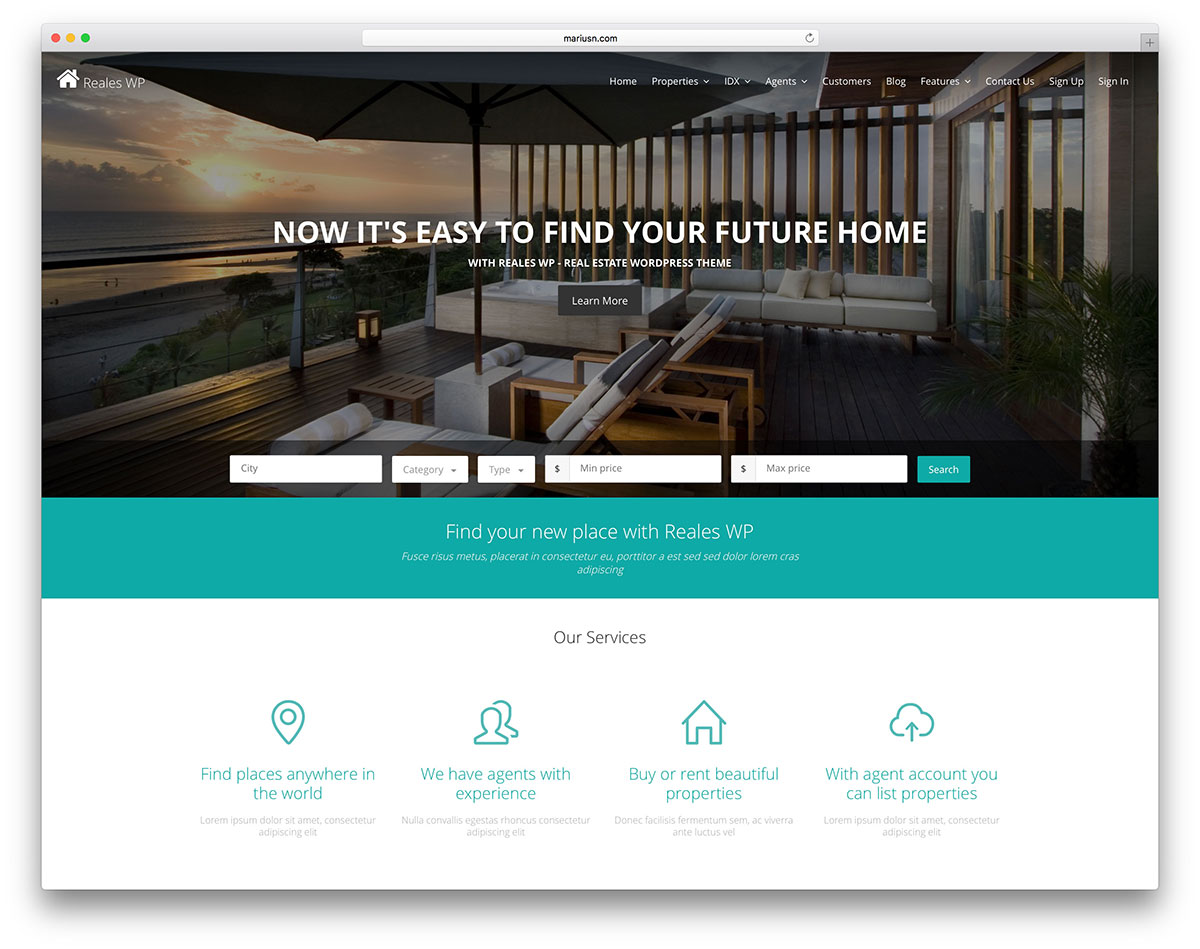 Best Real Estate WordPress Themes - Reales WP