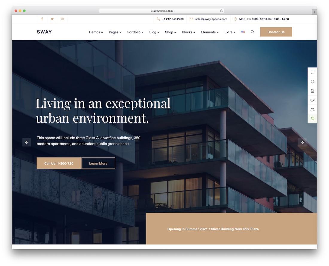 Best Real Estate WordPress Themes -Sway