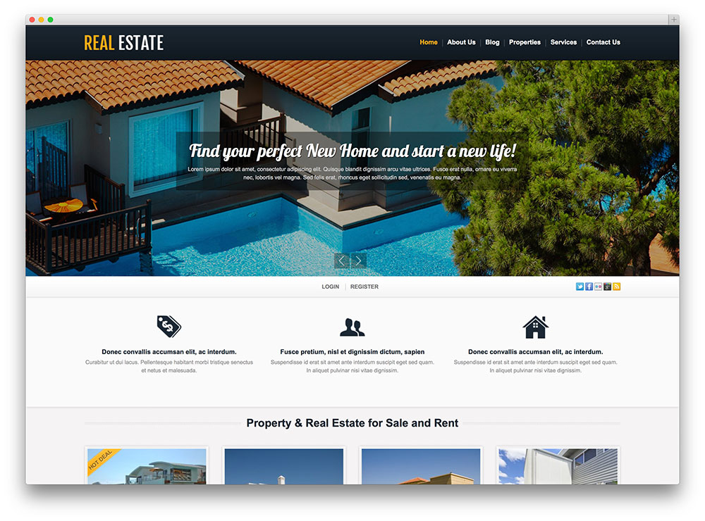 Best Real Estate WordPress Themes - TM White Real Estate Theme