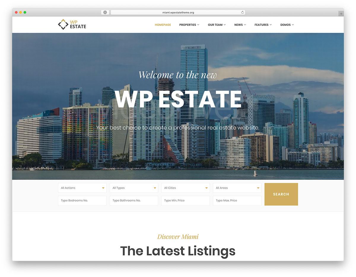 Best Real Estate WordPress Themes - WP Estate Responsive WordPress Theme