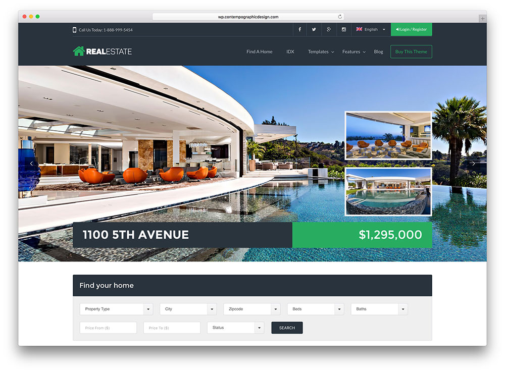 Best Real Estate WordPress Themes - WP Pro Real Estate 7
