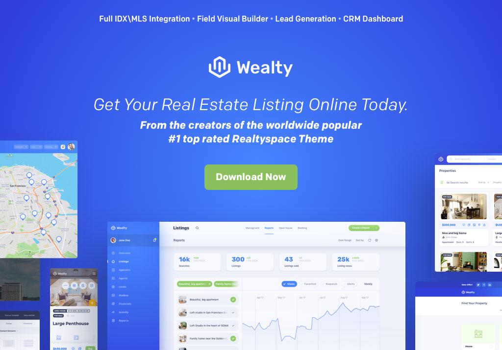 Best Real Estate WordPress Themes - Wealty