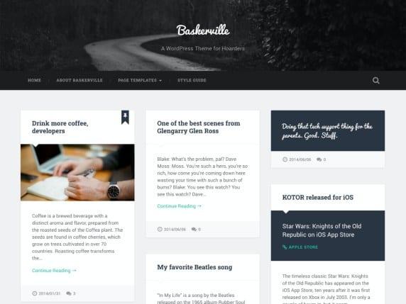 Free WordPress Blog Theme - Baskerville