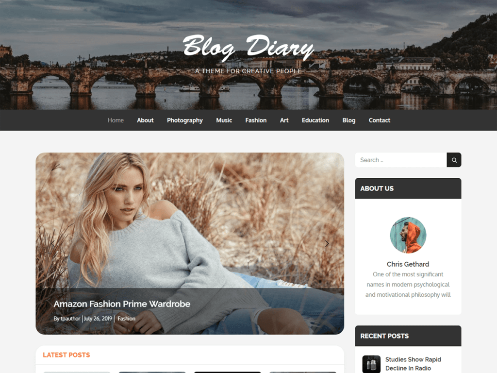 Free WordPress Blog Theme - Blog Diary