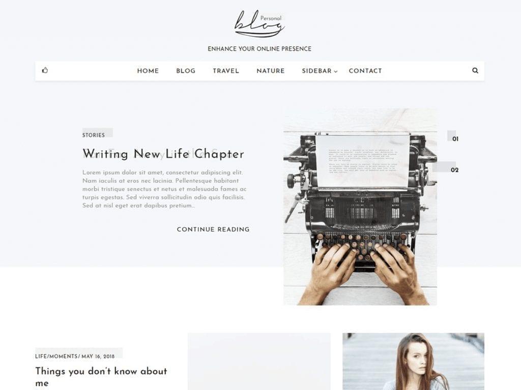 Free WordPress Blog Theme - Blog Personal