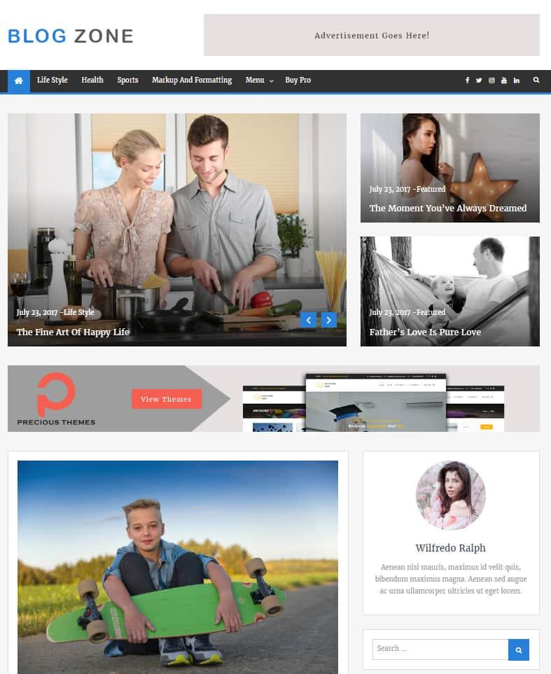Free WordPress Blog Theme - Blog Zone