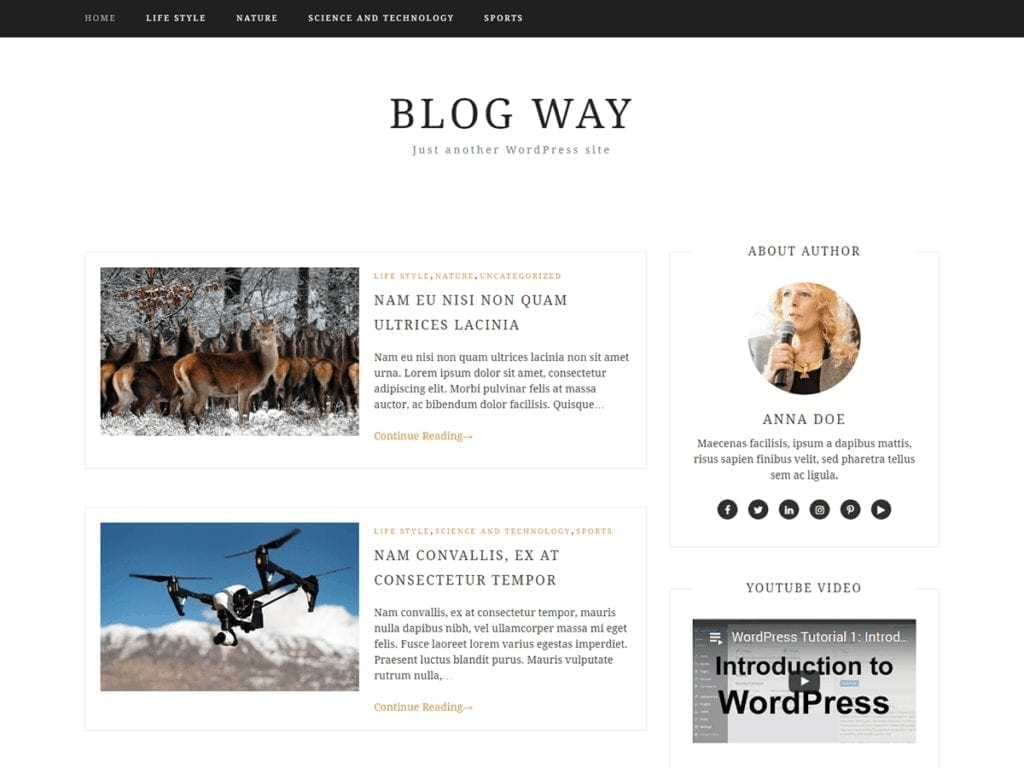 Free WordPress Blog Theme - Blog way