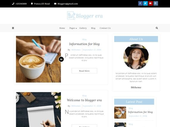 Free WordPress Blog Theme - Blogger Era