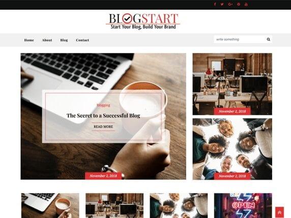 Free WordPress Blog Theme - Blogstart