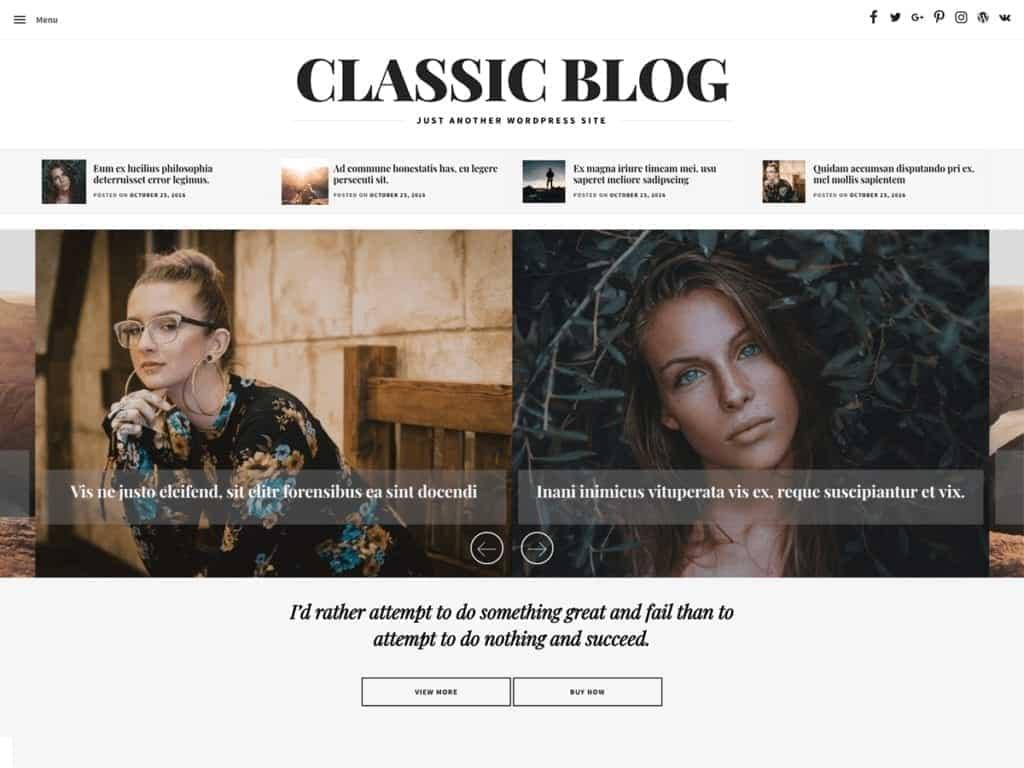 Free WordPress Blog Theme - Classic Blog
