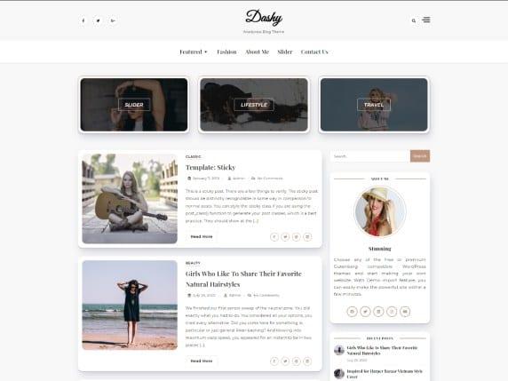 Free WordPress Blog Theme - Dashy