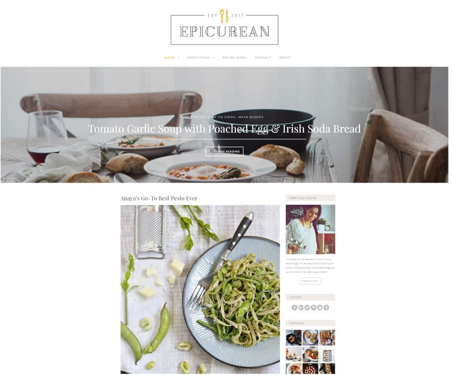 Free WordPress Blog Theme - Epicurean