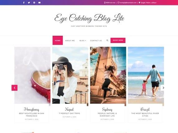 Free WordPress Blog Theme - Eye Catching Blog