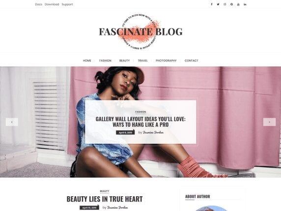 Free WordPress Blog Theme - Fascinate