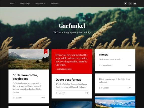 Free WordPress Blog Theme - Garfunkel