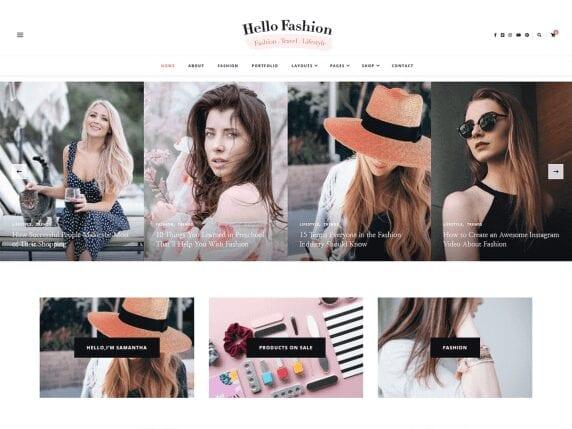 Free WordPress Blog Theme - Hello Fashion