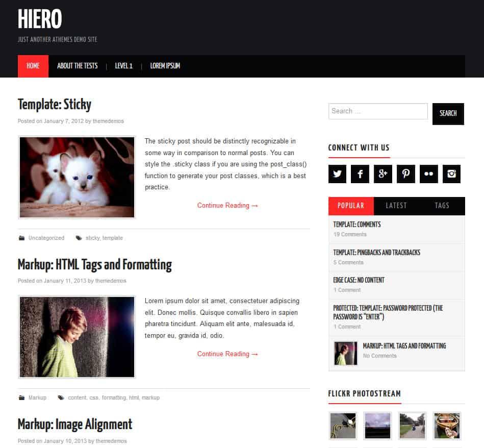 Free WordPress Blog Theme - Hiero