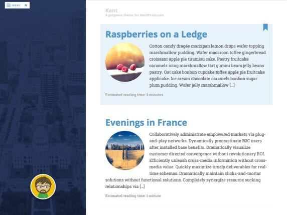 Free WordPress Blog Theme - Kent