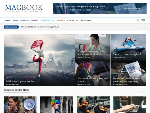 Free WordPress Blog Theme - Magbook