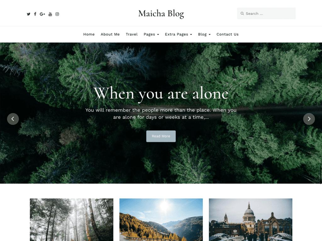Free WordPress Blog Theme - Maicha Blog