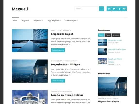 Free WordPress Blog Theme - Maxwell
