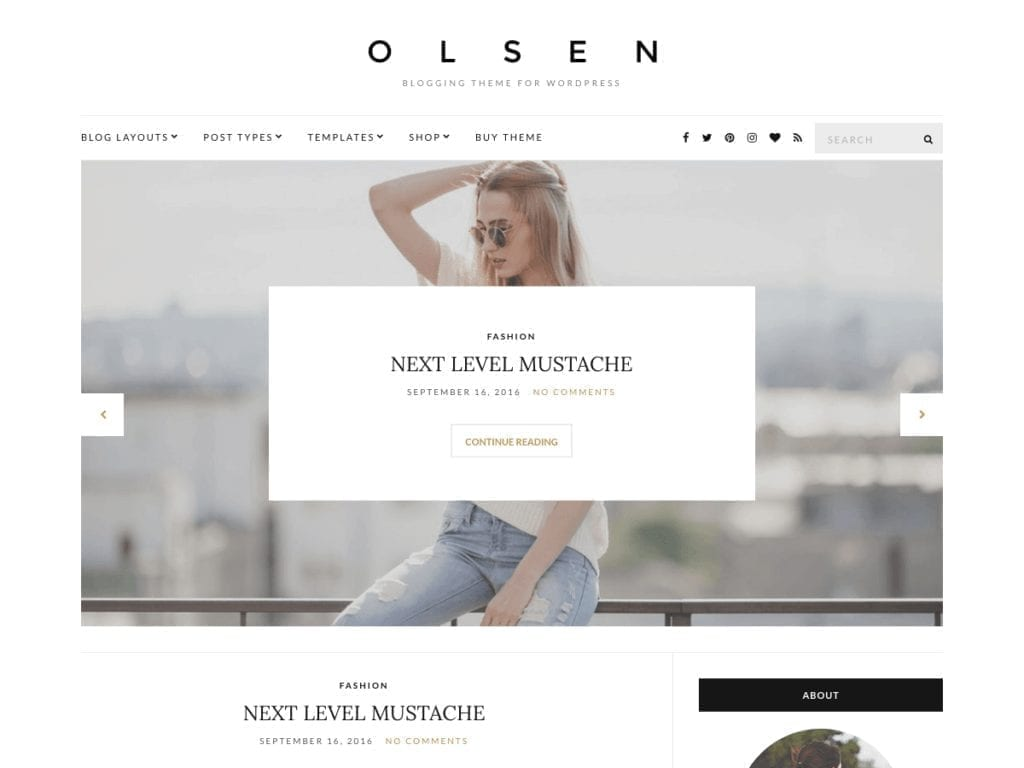 Free WordPress Blog Theme - Olsen Lite