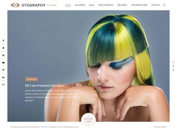 Free WordPress Blog Theme - Otography