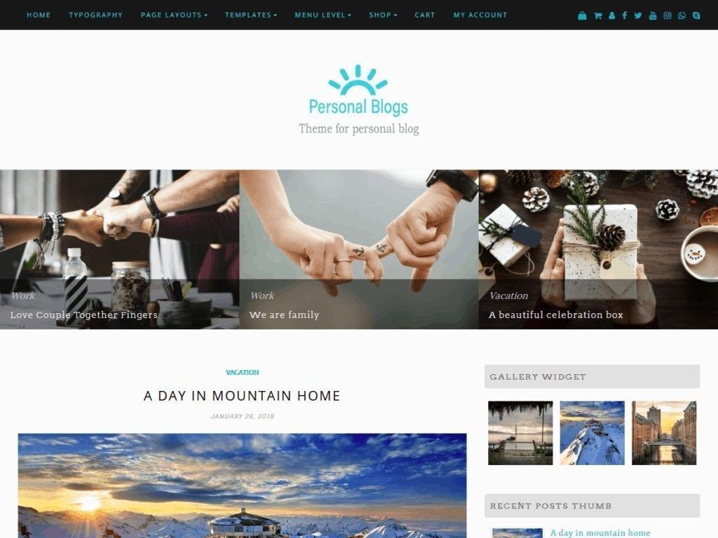 Free WordPress Blog Theme - Personal Blogs