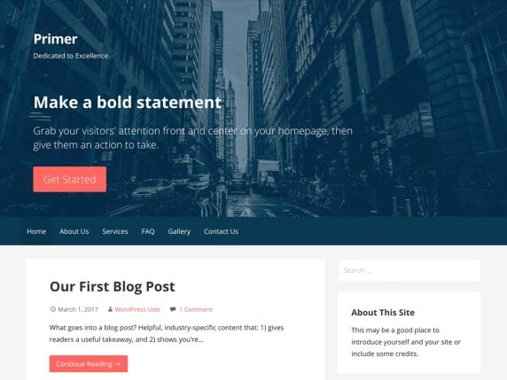 Free WordPress Blog Theme - Primer