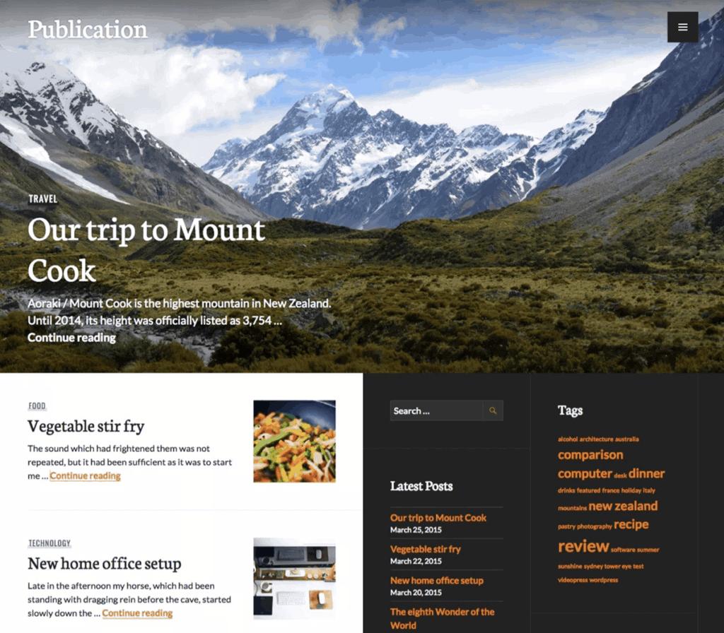 Free WordPress Blog Theme - Publication