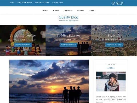 Free WordPress Blog Theme - Quality Blog