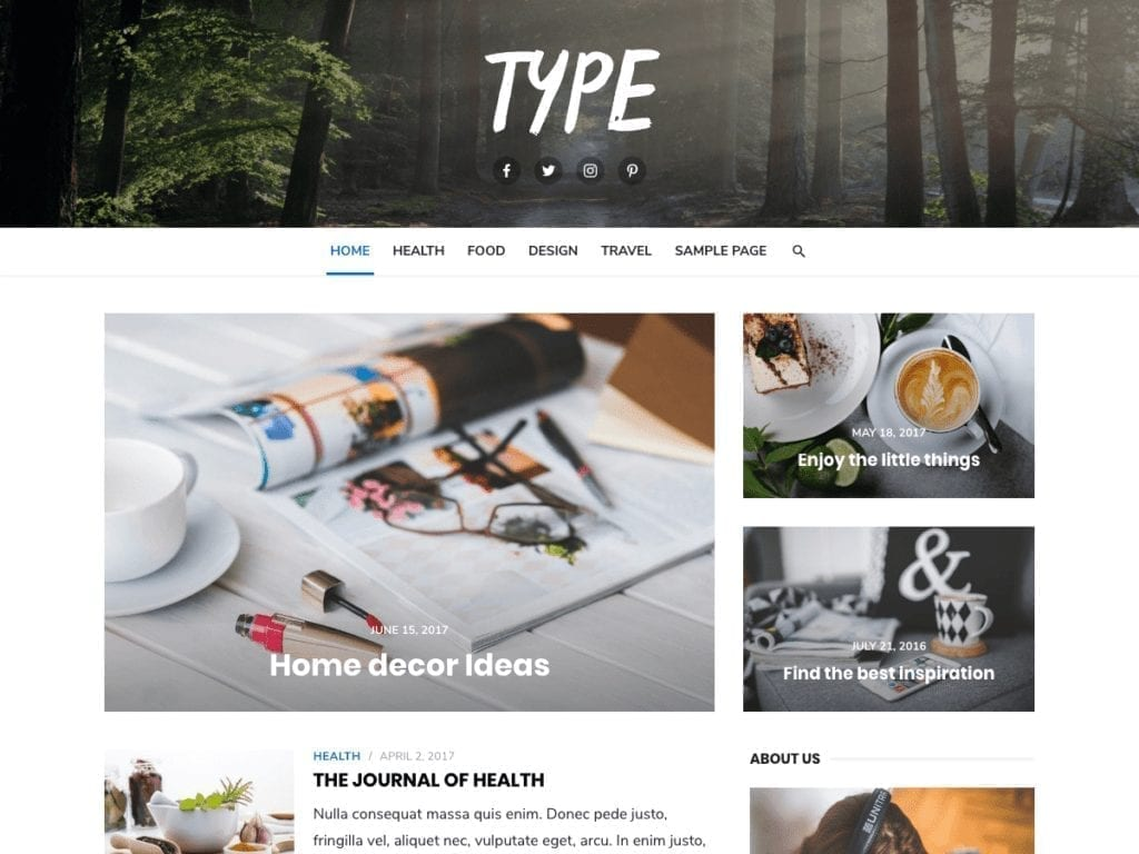 Free WordPress Blog Theme - Type
