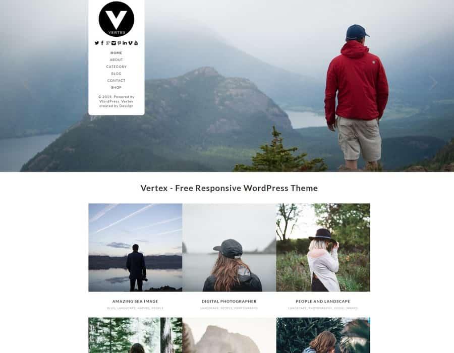 Free WordPress Blog Theme - Vertex
