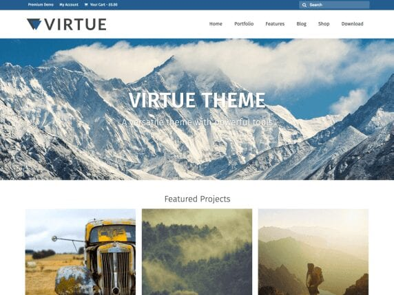 Free WordPress Blog Theme - Virtue