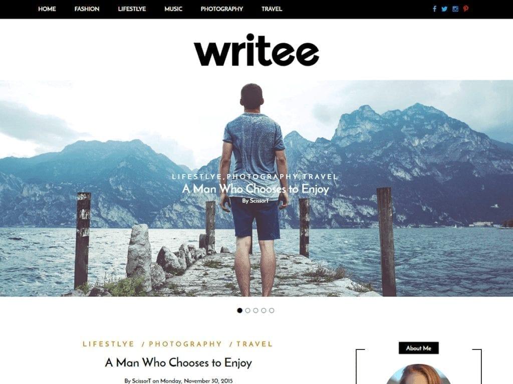Free WordPress Blog Theme - Writee