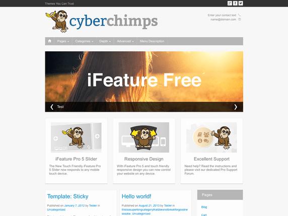 Free WordPress Blog Theme - iFeature