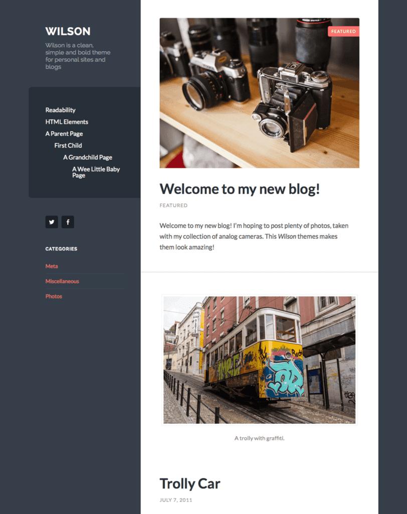 Free WordPress Blog Theme - wilson
