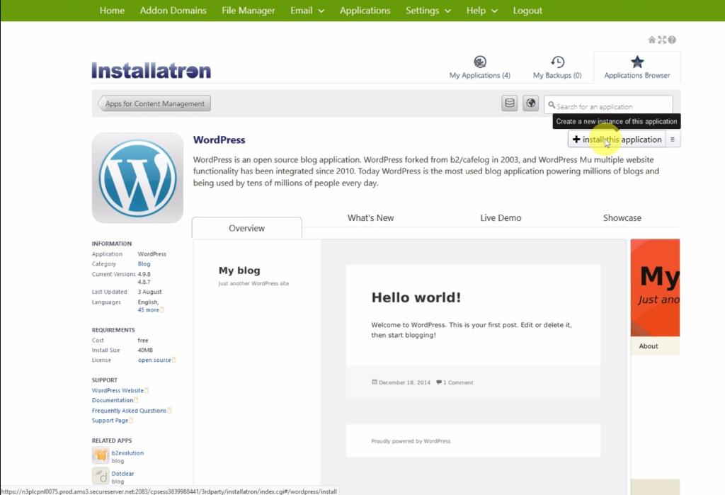 How to Install WordPress to GoDaddy - Godaddy new